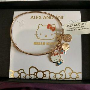 Alex and ani hello kitty rose gold bangle bracelet